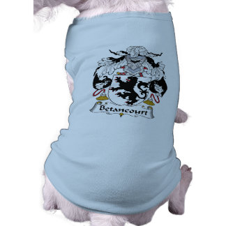 Escudo de la familia de Betancourt Playera Sin Mangas Para Perro