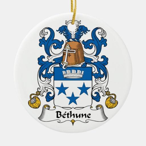 Escudo de la familia de Bethune Adorno Redondo De Cerámica