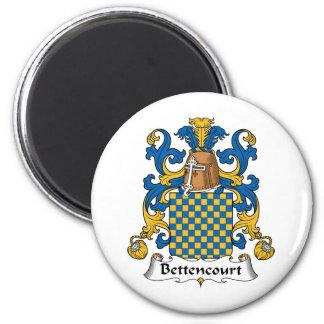 Escudo de la familia de Bettencourt Imán Redondo 5 Cm