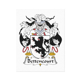 Escudo de la familia de Bettencourt Impresión En Lienzo