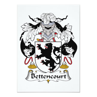 Escudo de la familia de Bettencourt Comunicado Personal