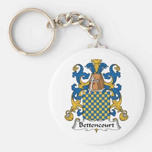 Escudo de la familia de Bettencourt Llavero Redondo Tipo Pin