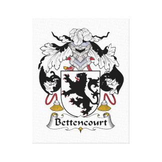 Escudo de la familia de Bettencourt Lona Estirada Galerias