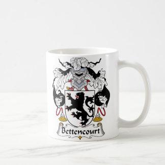 Escudo de la familia de Bettencourt Taza Básica Blanca