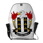 Escudo de la familia de Betton Bolsas Messenger