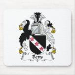 Escudo de la familia de Betts Alfombrilla De Ratones
