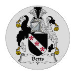 Escudo de la familia de Betts Fichas De Póquer
