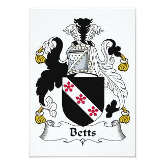 """Escudo de la familia de Betts Invitación 5"""" X 7"""""""