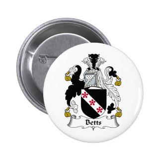 Escudo de la familia de Betts Pin Redondo De 2 Pulgadas