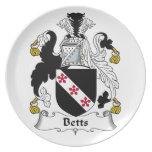 Escudo de la familia de Betts Plato Para Fiesta