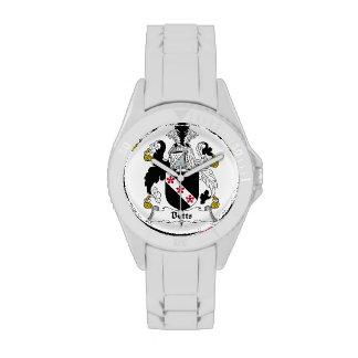 Escudo de la familia de Betts Relojes De Pulsera