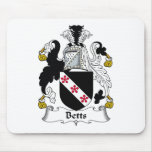 Escudo de la familia de Betts Tapetes De Ratón
