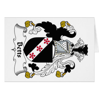Escudo de la familia de Betts Felicitación