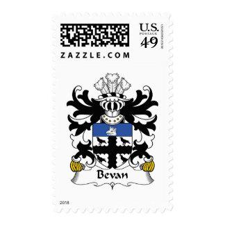 Escudo de la familia de Bevan Franqueo