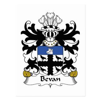 Escudo de la familia de Bevan Tarjeta Postal