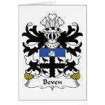 Escudo de la familia de Beven Tarjeton