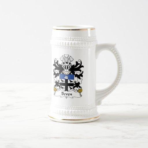 Escudo de la familia de Beven Tazas