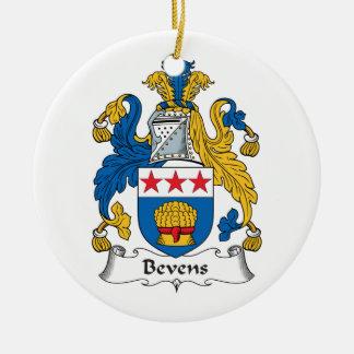 Escudo de la familia de Bevens Adorno Redondo De Cerámica