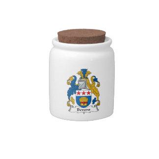Escudo de la familia de Bevens Jarra Para Caramelo