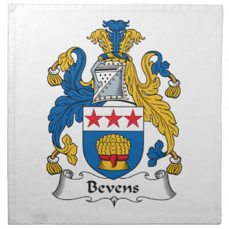 Escudo de la familia de Bevens Servilletas Imprimidas