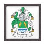 Escudo de la familia de Beveridge Caja De Joyas De Calidad