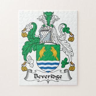 Escudo de la familia de Beveridge Puzzle Con Fotos