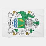 Escudo de la familia de Beveridge Toallas De Mano