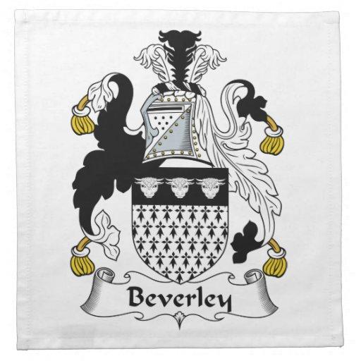 Escudo de la familia de Beverley Servilleta De Papel