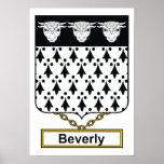 Escudo de la familia de Beverly Impresiones