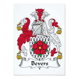 """Escudo de la familia de Bevers Invitación 5"""" X 7"""""""