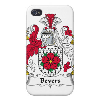 Escudo de la familia de Bevers iPhone 4 Cárcasa