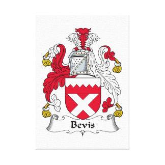 Escudo de la familia de Bevis Impresiones En Lona Estiradas