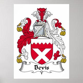 Escudo de la familia de Bevis Poster