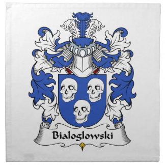 Escudo de la familia de Bialoglowski Servilleta Imprimida
