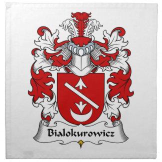 Escudo de la familia de Bialokurowicz Servilletas Imprimidas