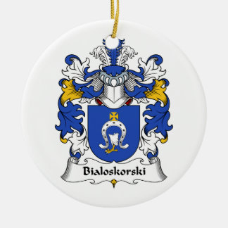 Escudo de la familia de Bialoskorski Adorno Redondo De Cerámica