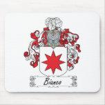 Escudo de la familia de Bianco Tapetes De Ratón