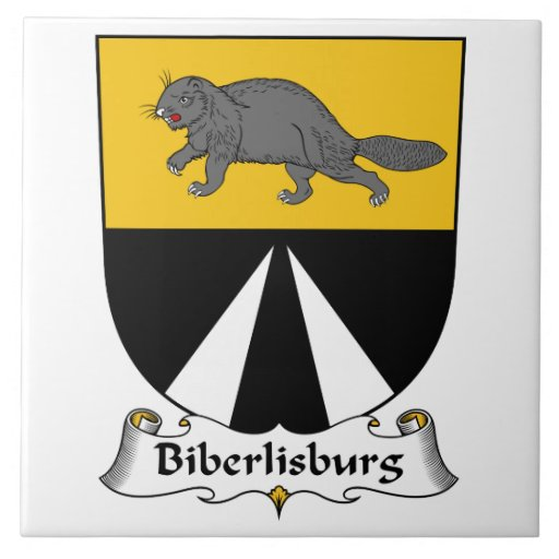 Escudo de la familia de Biberlisburg Azulejo Cerámica
