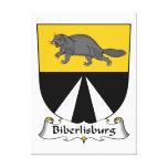Escudo de la familia de Biberlisburg Lienzo Envuelto Para Galerías