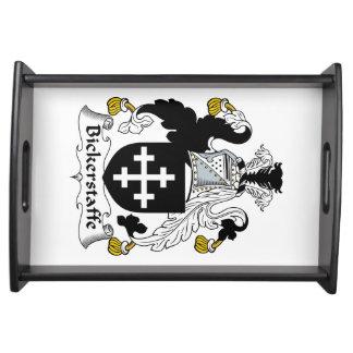 Escudo de la familia de Bickerstaffe Bandejas