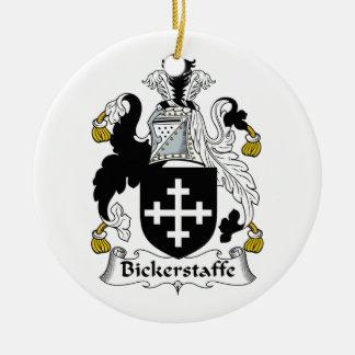 Escudo de la familia de Bickerstaffe Ornamento Para Arbol De Navidad