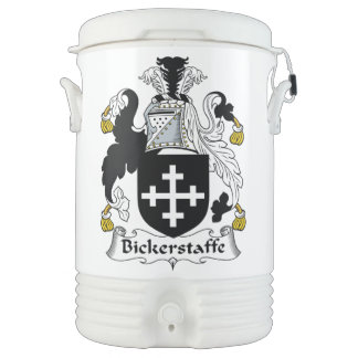 Escudo de la familia de Bickerstaffe Enfriador De Bebida Igloo