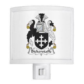 Escudo de la familia de Bickerstaffe Lámpara De Noche
