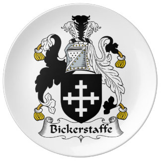 Escudo de la familia de Bickerstaffe Platos De Cerámica