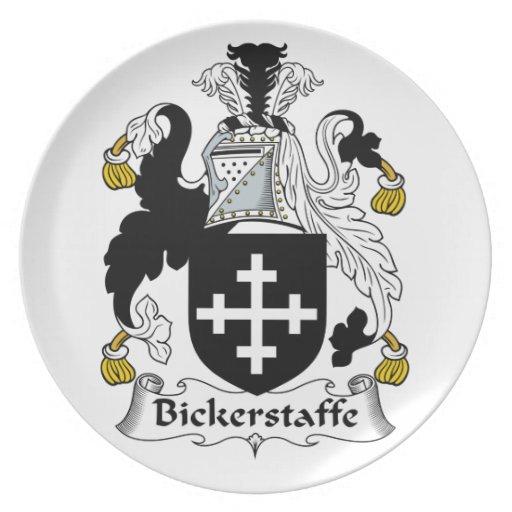 Escudo de la familia de Bickerstaffe Platos