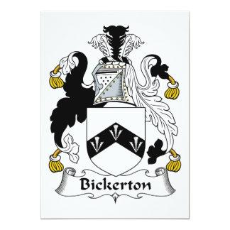"""Escudo de la familia de Bickerton Invitación 5"""" X 7"""""""