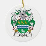 Escudo de la familia de Bicudo Ornamentos Para Reyes Magos