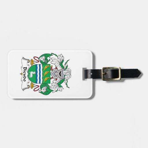 Escudo de la familia de Bicudo Etiquetas Maleta