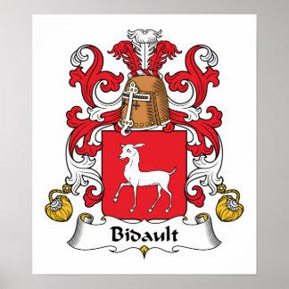 Escudo de la familia de Bidault Poster