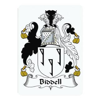 """Escudo de la familia de Biddell Invitación 5"""" X 7"""""""